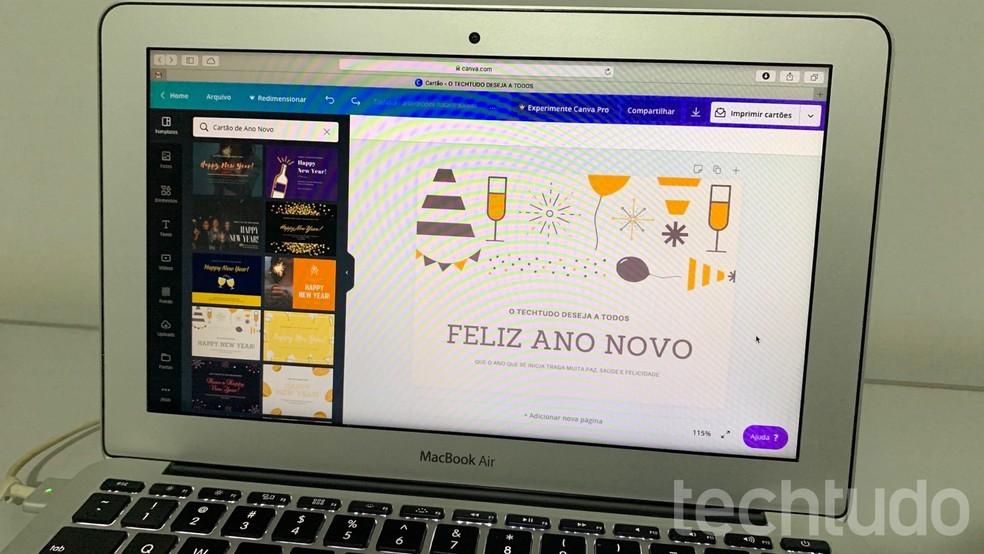 Siit saate teada, kuidas Canvas teha Happy New Year kaarte. Foto: Helito Beggiora / TechTudo
