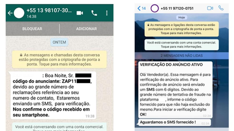 Kurjategijate saadetud sõnumid kasutaja autentimiskoodide varastamiseks. Foto: Reproduction / Kaspersky Lab