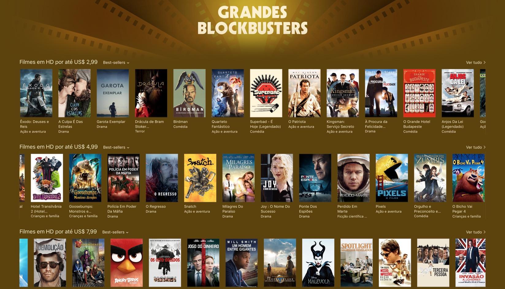 Grandes blockbusters - iTunes (Movie) Store