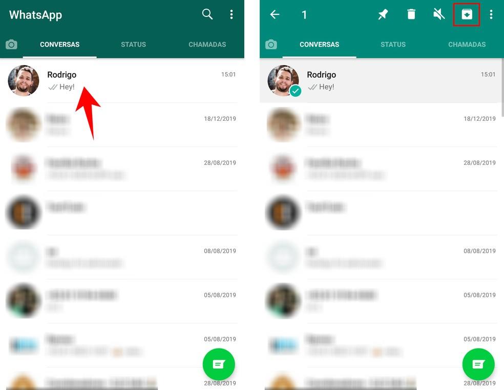 Kuidas arhiivida arhiivisaidil WhatsApp Android Photos mõeldud vestlusi: Reproduo / Rodrigo Fernandes