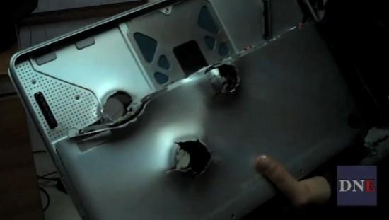 Macbook Unibody kuulipilduja