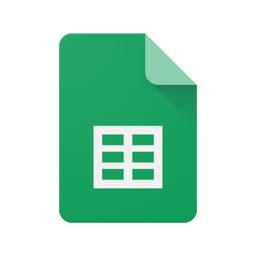 Google'i arvutustabelite rakenduse ikoon
