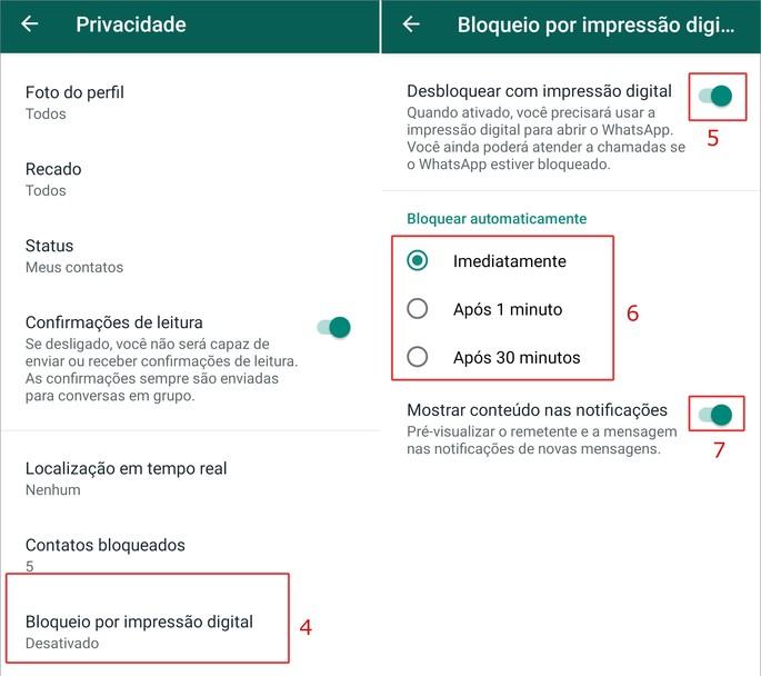 Avage sõrmejälg WhatsApp