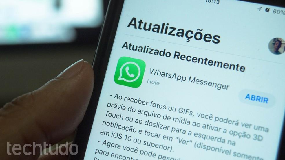 WhatsApp võidab koputuse uusimal iPhone Photo Photo värskendusel: TechTudo