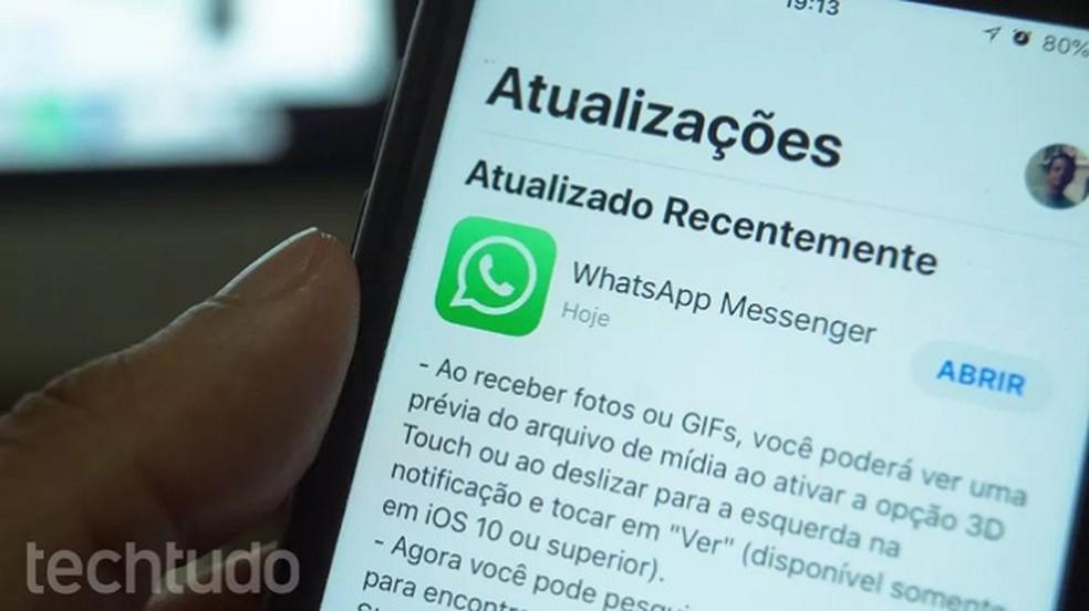 WhatsApp Beta saab iOS 13 andmete salvestamise režiimi tuge: Marvin Costa / TechTudo