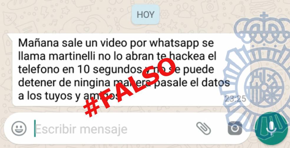 """Kuulujutud videost """"Martinelli"""" saidil WhatsApp algavad Hispaanias. Foto: Reproduo / Hispaania riiklik politsei"""