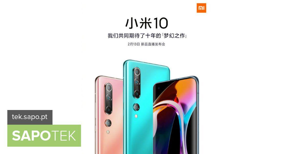 Xiaomi käivitas Mi 10. Ametlik esitlus, mis on kavandatud 13. kuupäevaks - varustus