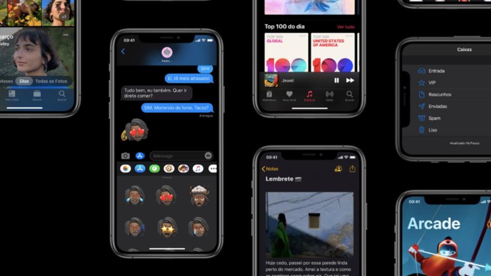 """iOS 13.3 saab alla laadida menüüst """"Tarkvara värskendus"""" Foto: Divulgao / Apple"""