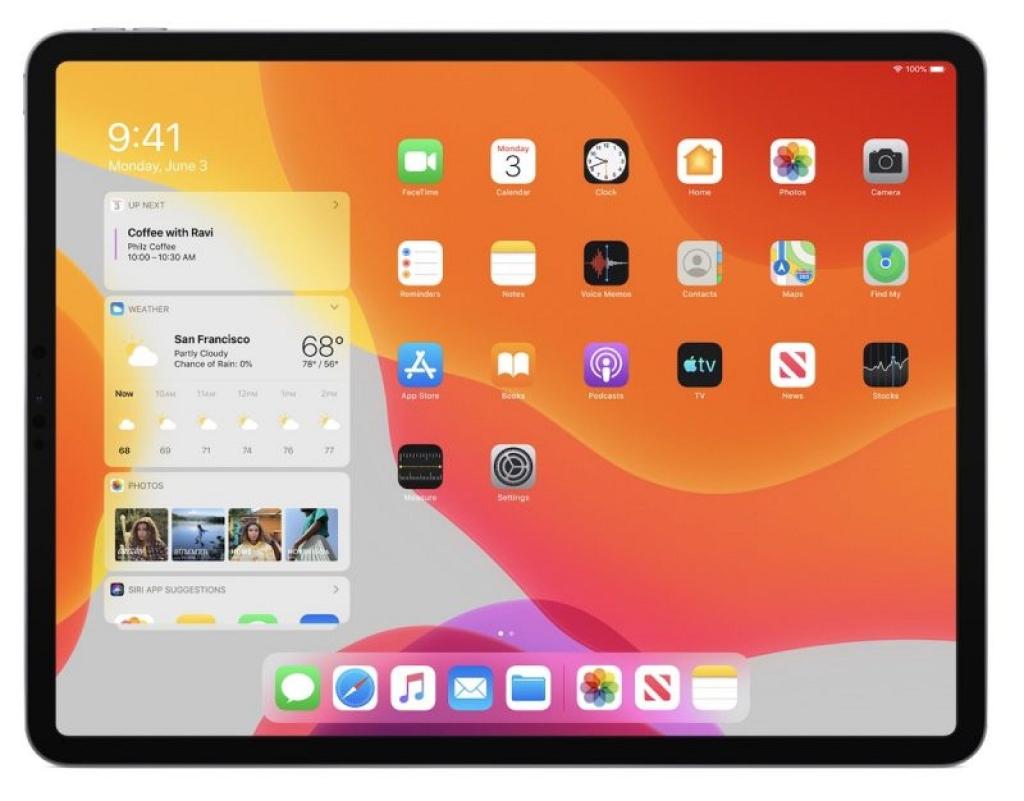 Nüüd on olemas avaekraani uus kujundus, spetsiaalselt iPadOS-i jaoks
