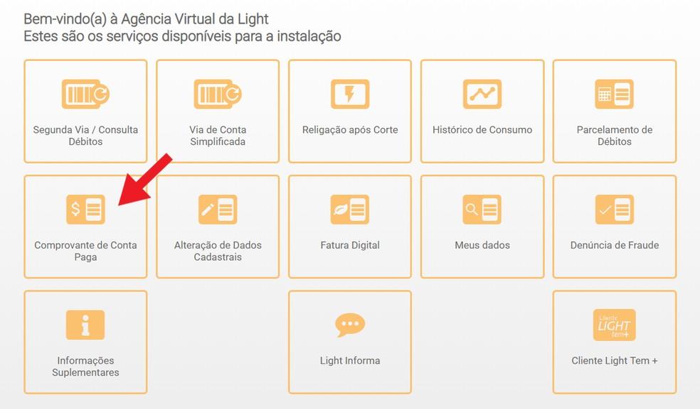Virtuaalse valguse agentuuris tasutud arvete juurdepääsutõend Foto: Reproduo / Ana Letcia Loubak