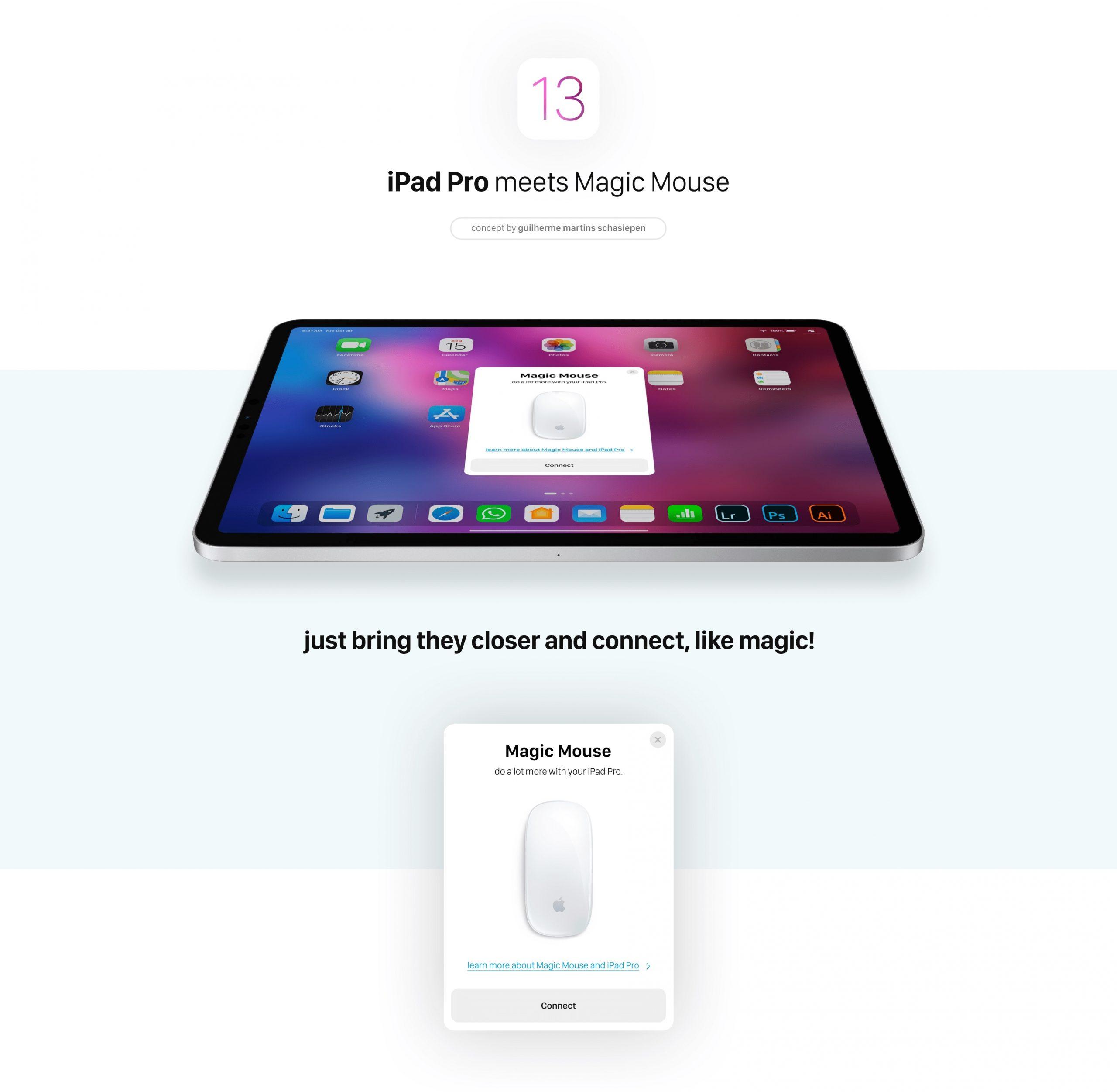 Reader loob iOS 13 töötava iPad Pro kontseptsiooni hiire toega