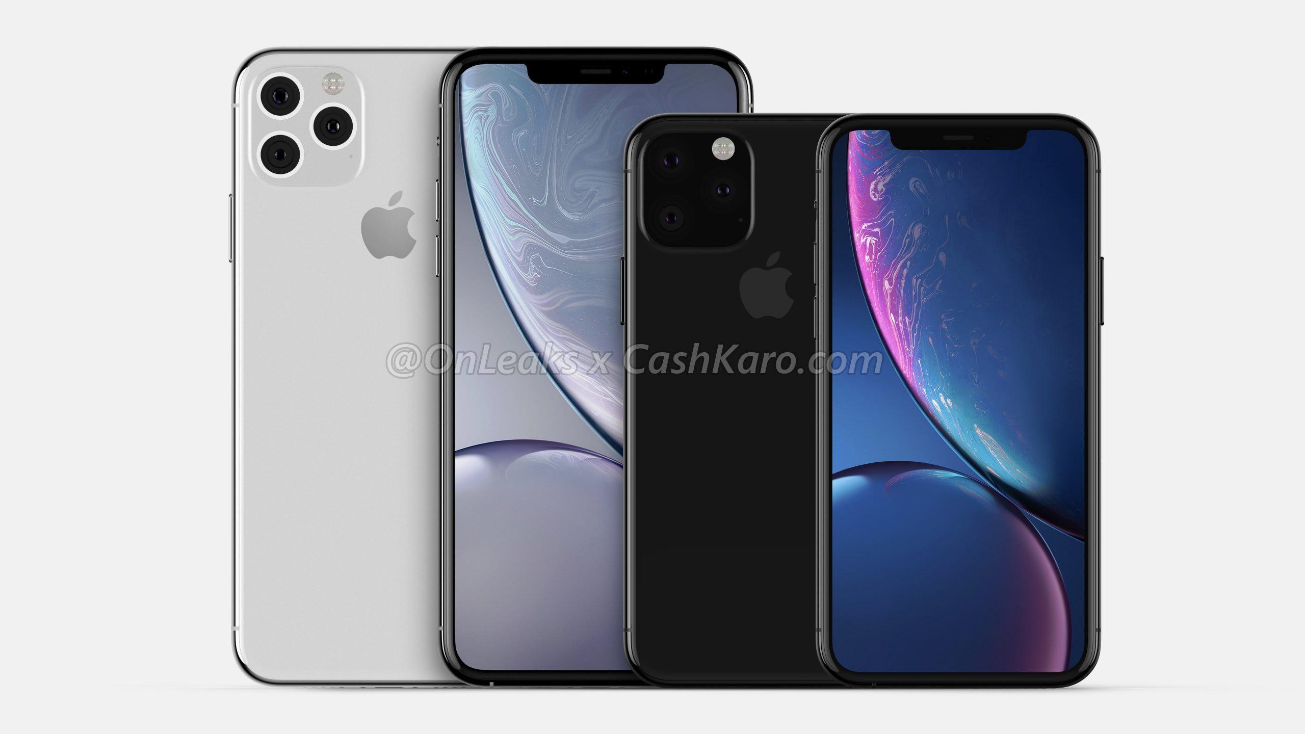 Uus renderdus väidetavate iPhone XI ja iPhone XI Maxi võrdlemiseks