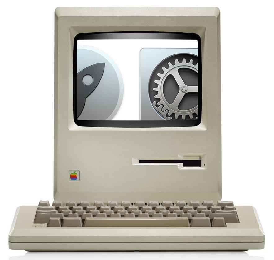 Macintosh vs.  Võrkkesta pilt