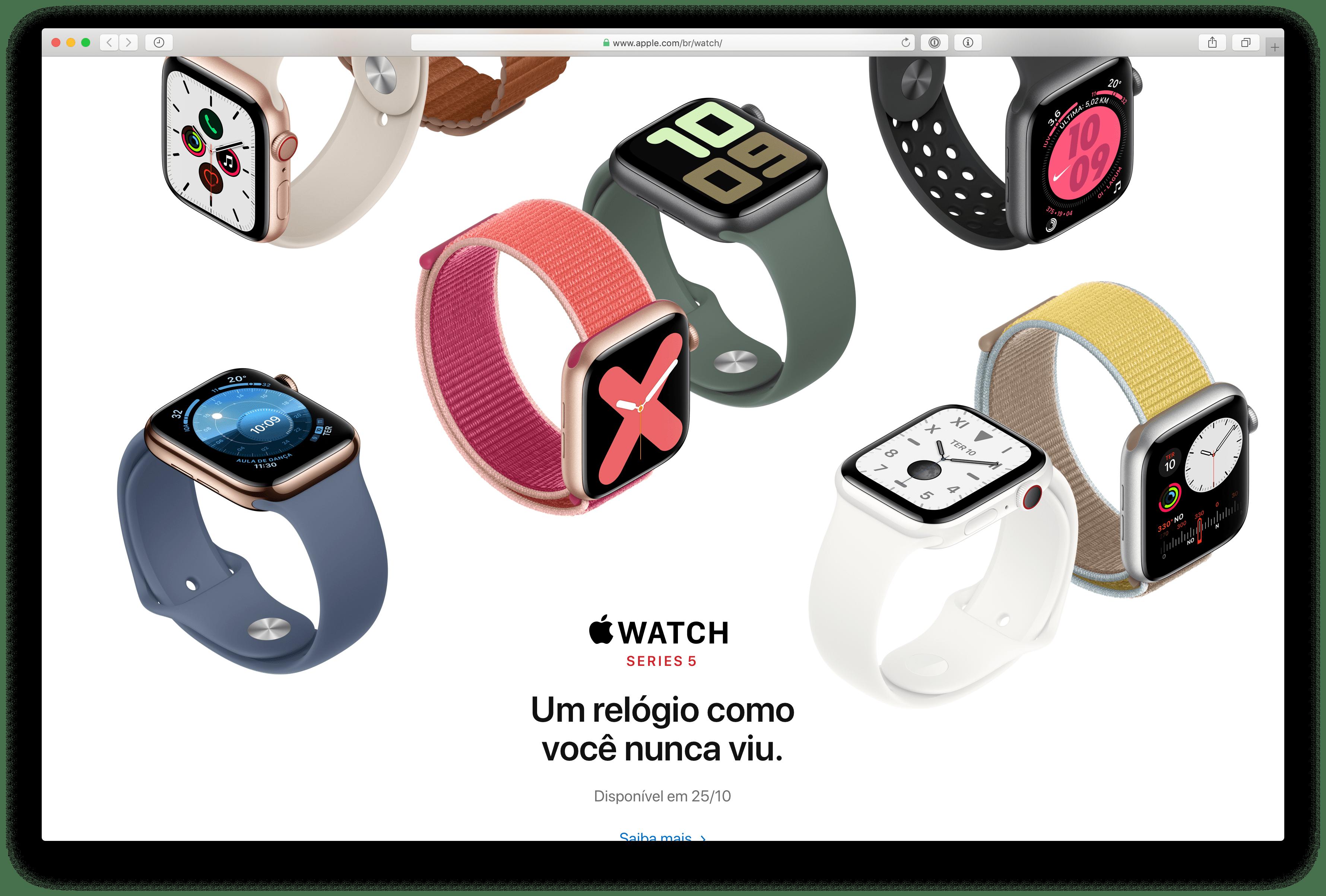 Apple Watch Series 5 ilmub Brasiilias 25. oktoobril
