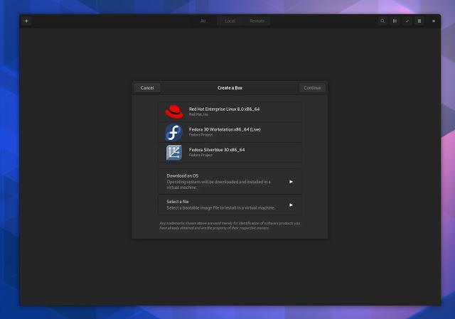 gnome-box-apps-shell-thessaloniki-linux-flatpak-flathub-liides-avatud lähtekoodiga tarkvara-vaba-kogukond-vm-virtuaalne masin
