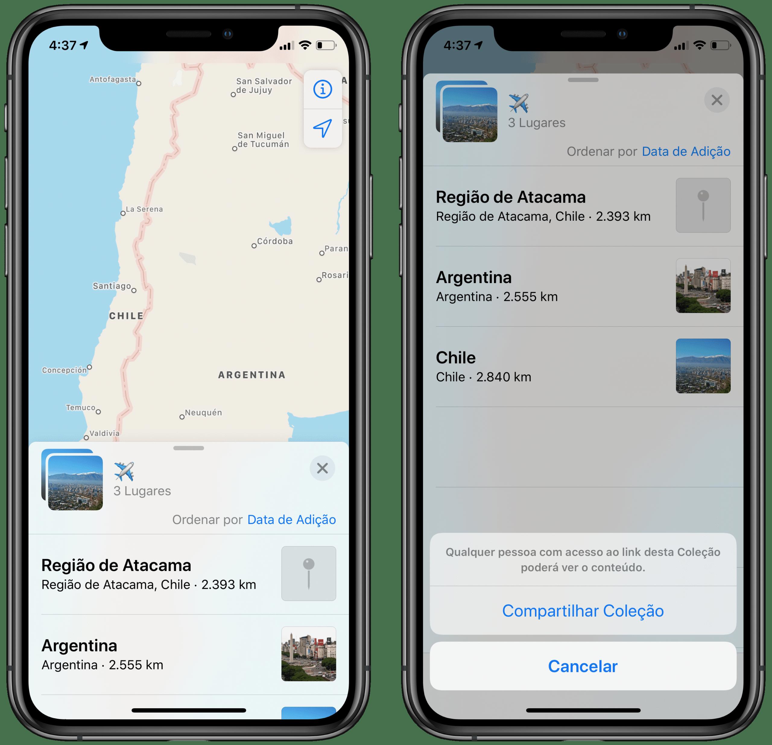 Apple Mapsi kollektsioon