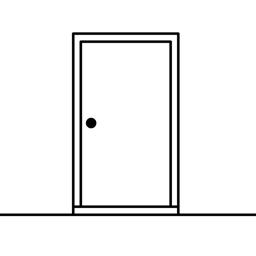 Valge ukse rakenduse ikoon