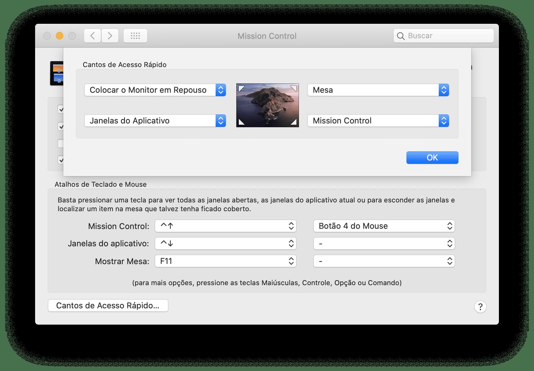 Lülitage Maci ekraan hiirega välja
