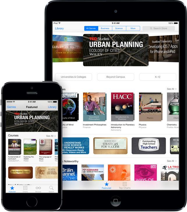 ITunes U rakendus iOS-ile