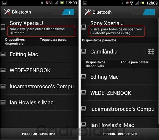 Bluetooth on visuaalselt aktiivne