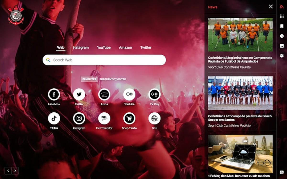 Corinthians saab Chrome'is ja Edge'is isikupärastatud kodulehe
