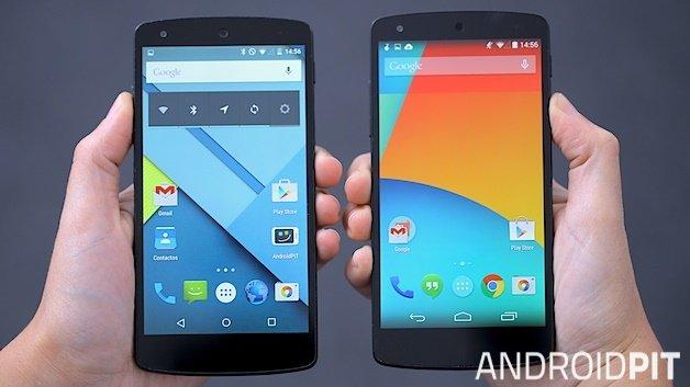 10 erinevust Android 4.4 KitKati ja Android 5.0 Lollipopi vahel