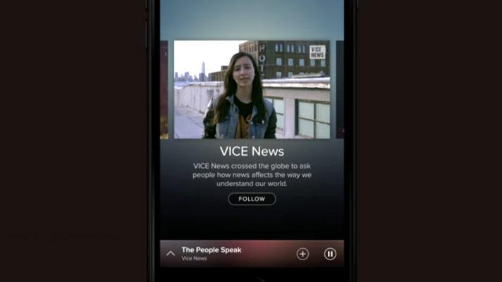 Vice-video esitatakse rakenduses