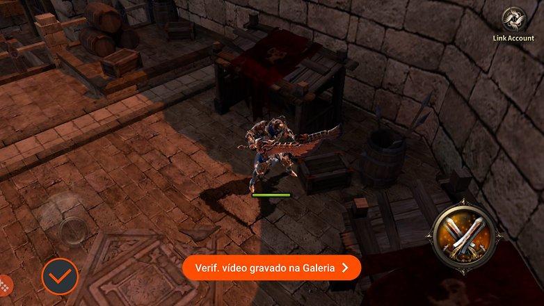 Ekraani salvestamine Galaxy s6 mängude käivitaja