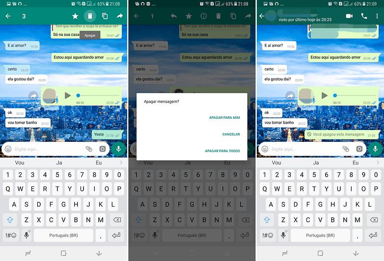 kustutage whatsappi värskendussõnum