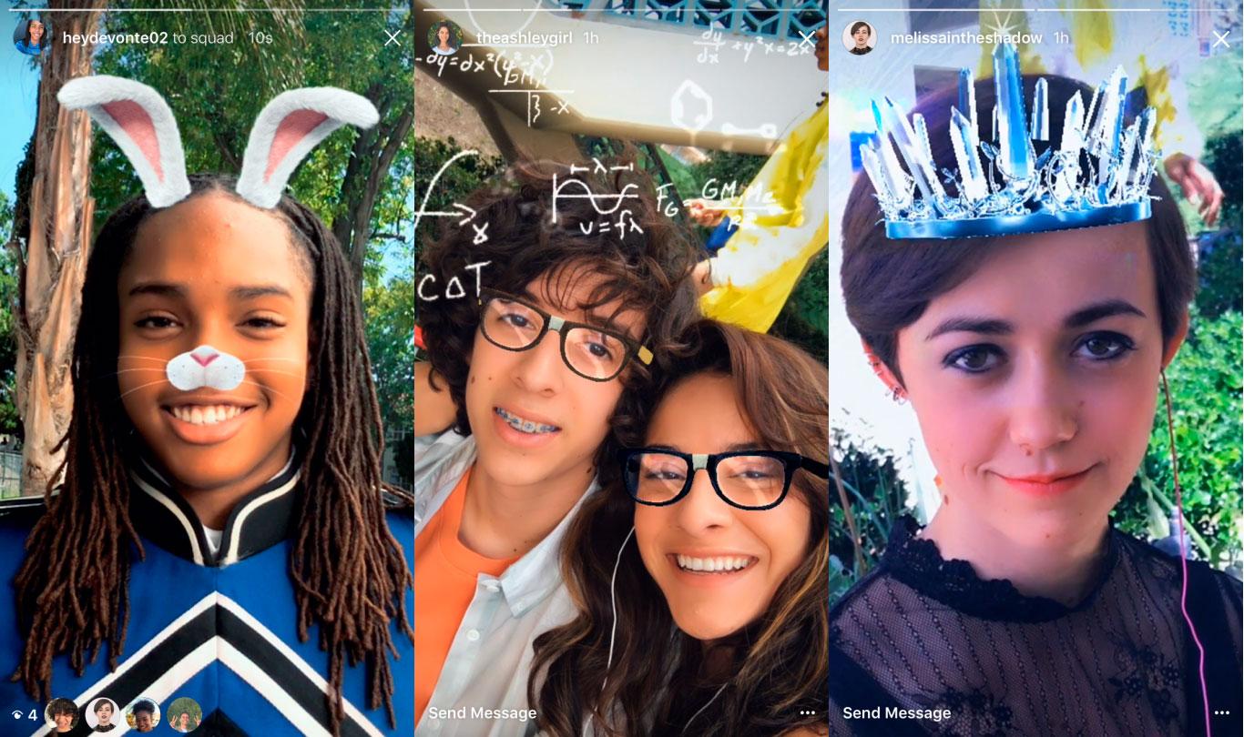 Instagram kopeerib veel ühe Snapchati funktsiooni: selfifiltrid ja efektid
