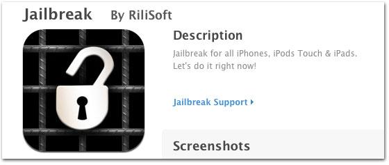 App Store'i rakendus eksitab kasutajaid, kes otsivad Jailbreak'i