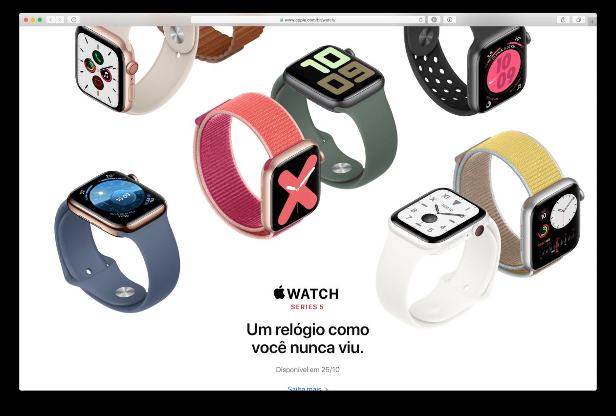 Apple Watch Series 5 Brasiilias 25. oktoobril