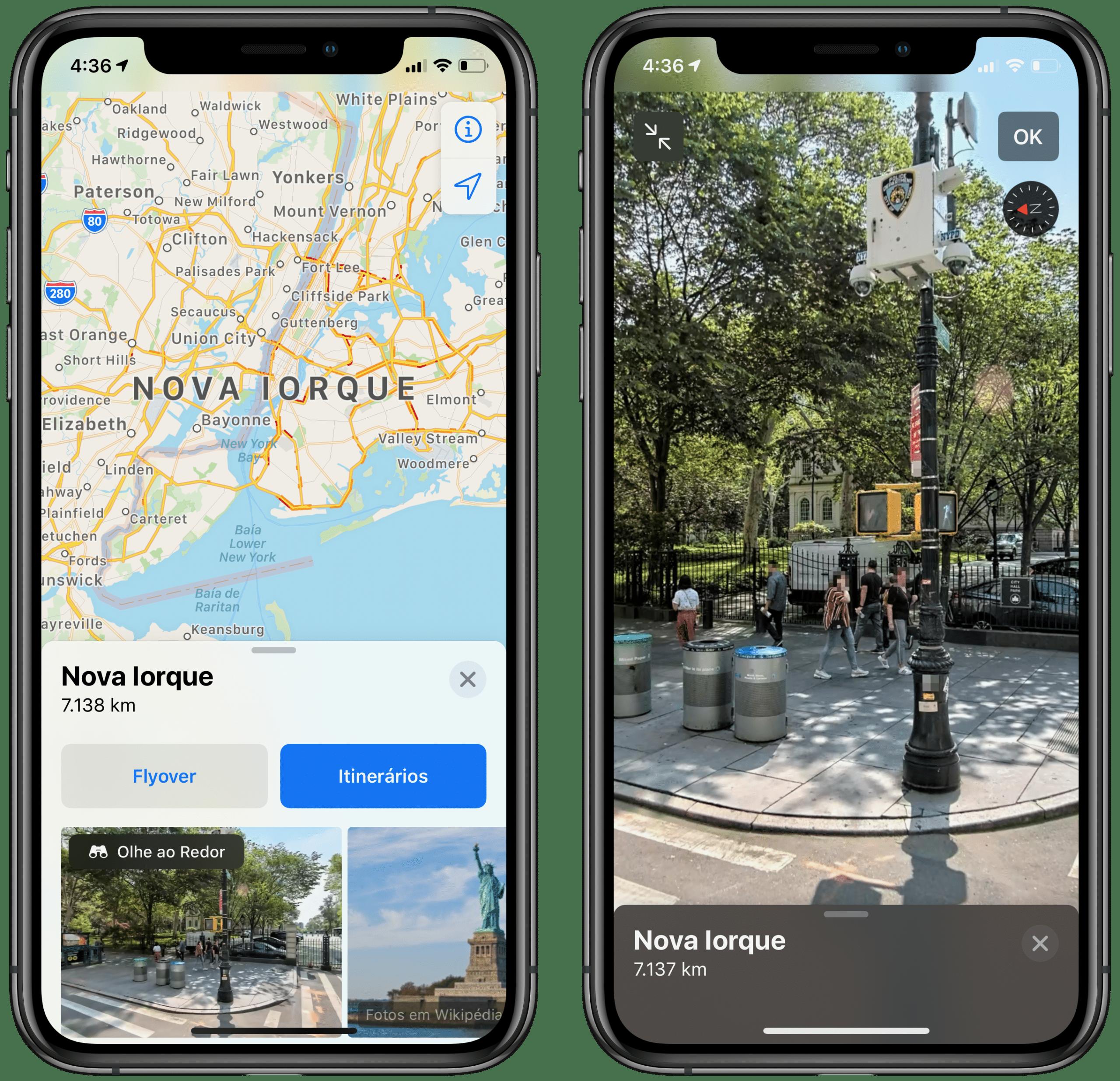 Vaadake Apple Mapsis ringi
