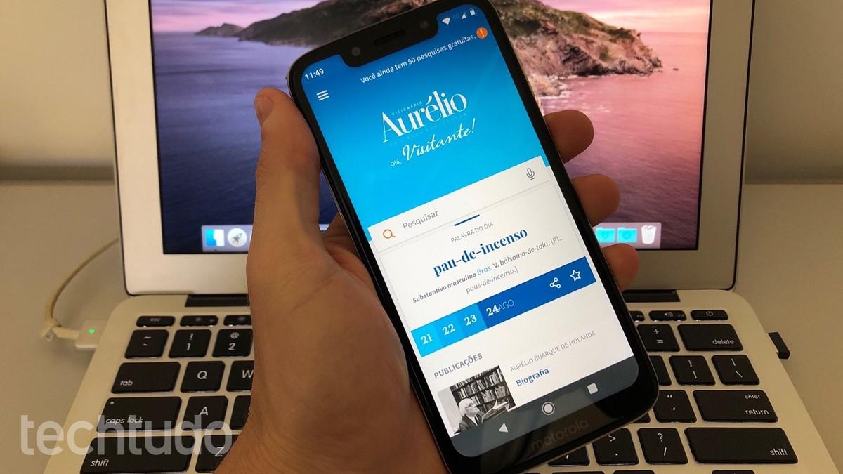 Aurélio sõnastik on allalaaditav mobiilseadmes;  oska kasutada