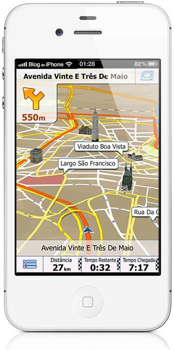 Brasiilia iGO GPS-navigaator iPhone'i ja iPadi jaoks, müüakse poole hinnaga