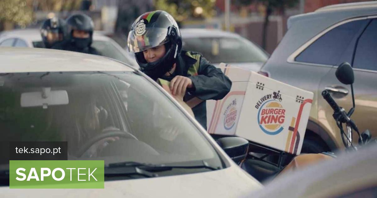 Burger King lõi liiklusummikusse jäänud autojuhtidele kättetoimetamisteenuse