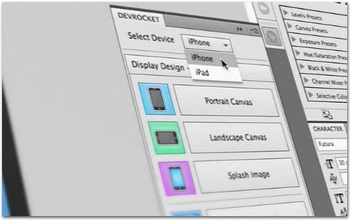DevRocket, Photoshopi pistikprogramm, mis on loodud iOS-i rakenduste disaineritele
