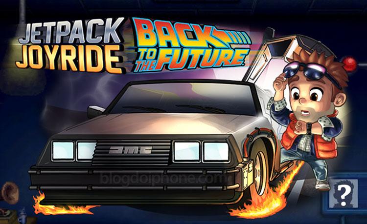 Jetpack Joyride mängud austavad filmi Tagasi tulevikku