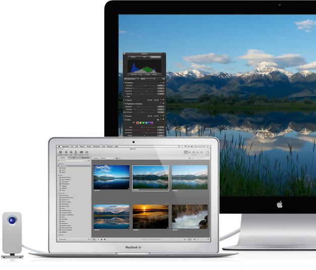 MacBook Air dengan Tampilan Thunderbolt