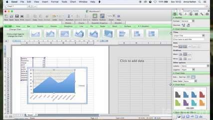 Diagrammi koostamine Microsoft Excelis