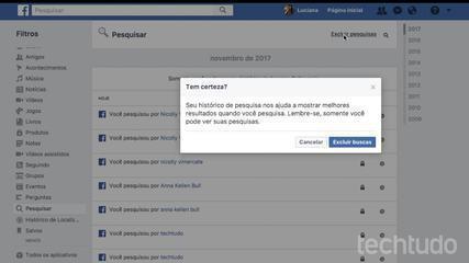 Kuidas kustutada oma Facebooki otsinguajalugu