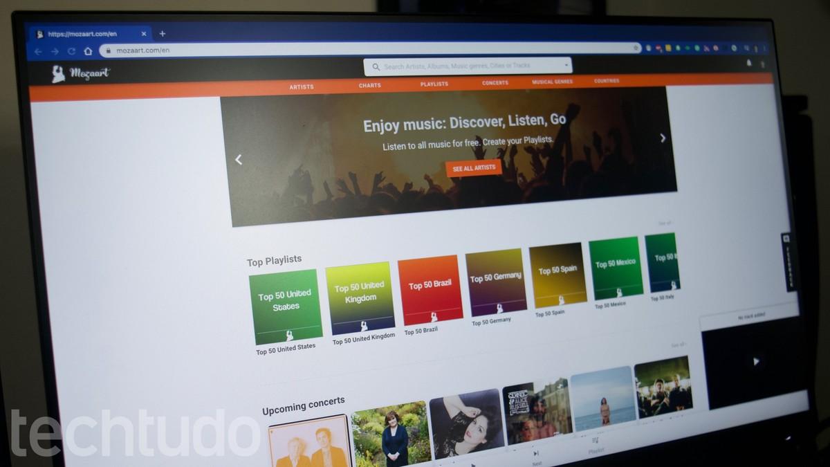 Kuidas muusikat veebis tasuta kuulata Mozaarti veebisaidil