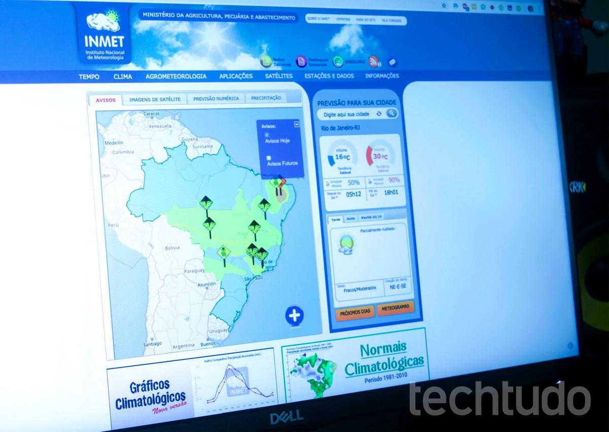 Kuidas vaadata ilmaennustust INMETi veebisaidil