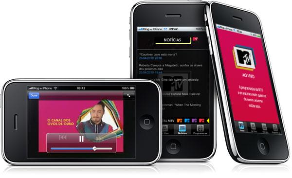 MTV on esimene Brasiilia telekanal, kes edastab oma otseülekannet iPhone'is