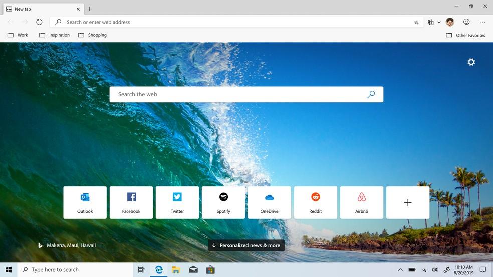 Uue Microsoft Edge beetaversioon on nüüd allalaadimiseks saadaval Photo: Divulgao / Microsoft