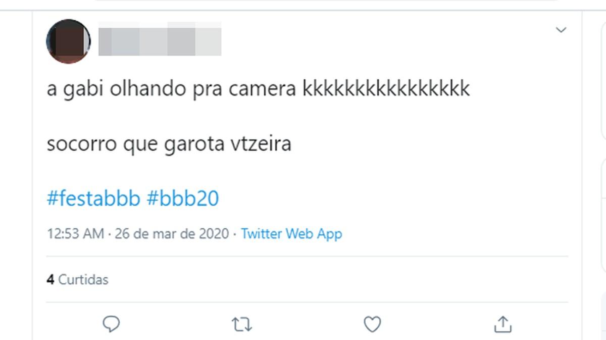 Mida mõeldakse 'vtzeiro' all?  Släng töötab Twitteris BBB 20 tõttu