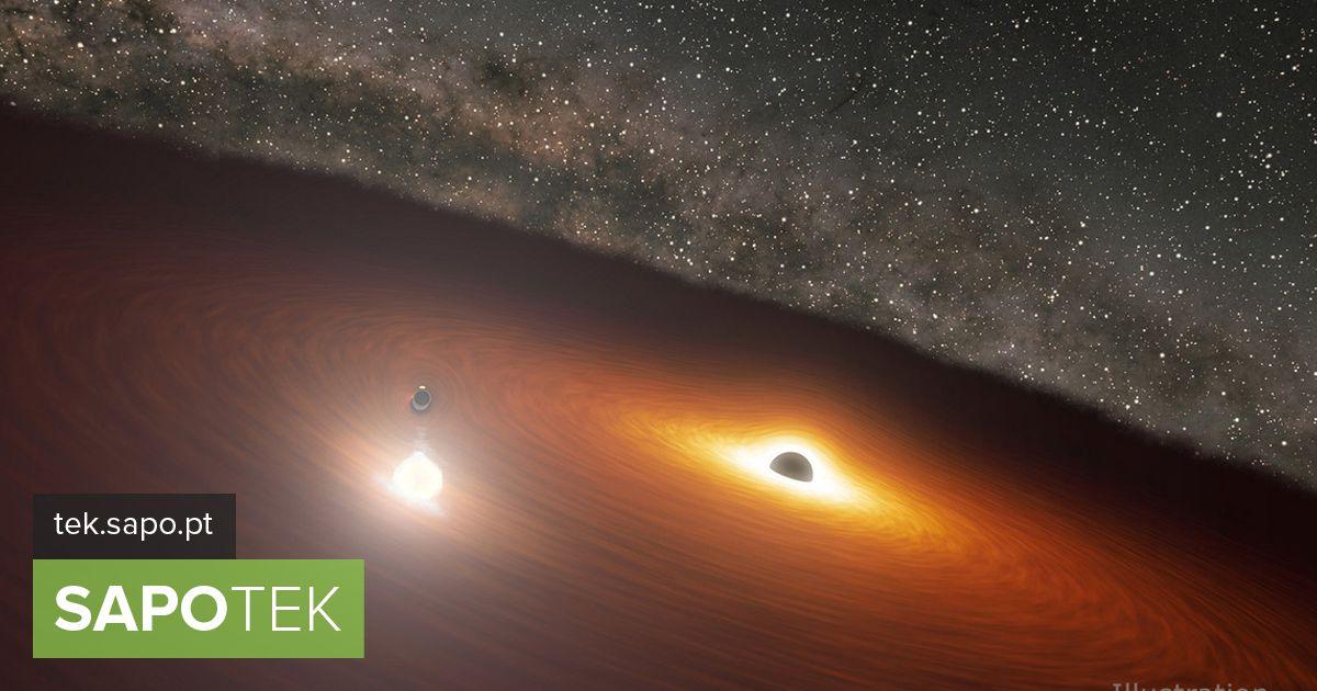 """NASA tuvastas """"tantsiva"""" kaks musta auku, mis valgustasid enam kui miljard tähte"""