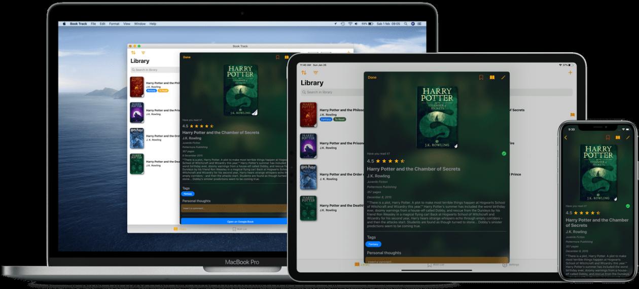 Book Tracki rakendus iOS-i ja macOS-i jaoks