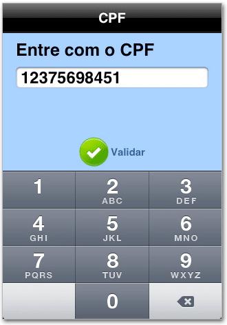Rakendus, et vaadata CPF-i ja CNPJ-d otse oma iPhone'is või iPod touchis