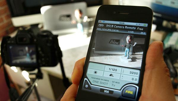 Rakendus võimaldab teil juhtida oma peegelkaamerat otse oma iPadis või iPhone'is